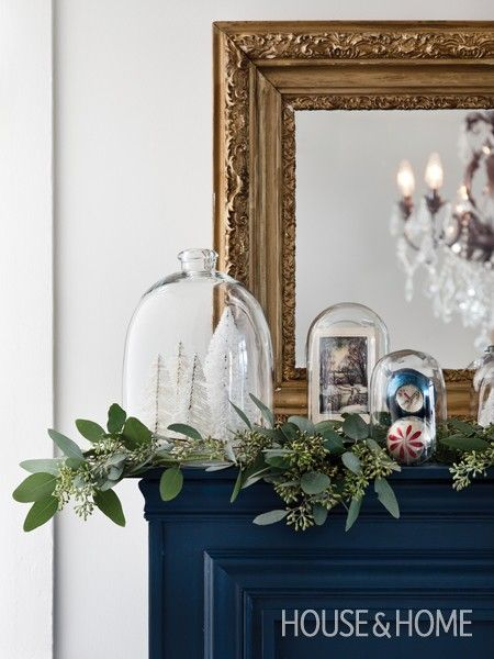 Photo Gallery Christmas Decorating Ideas Bottlebrush, Glass domes