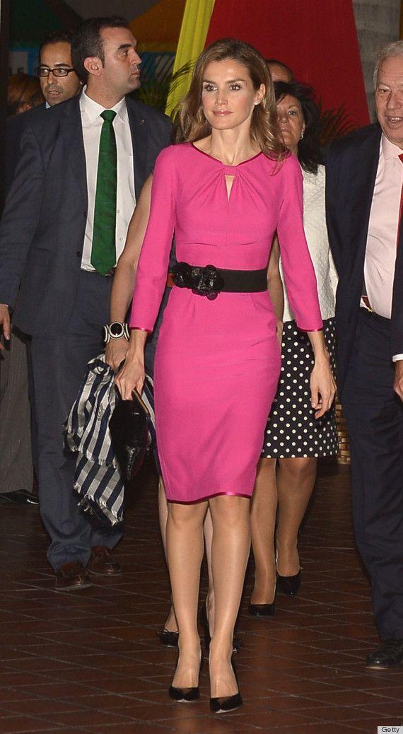 PHOTOS: Princess Letizia Wears Hot Pink In Miami   Princess letizia ...