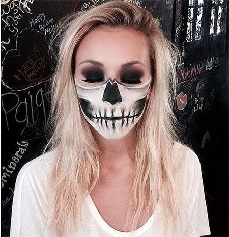 15-scary-halloween-mouth-teeth-half-face-makeup-looks-ideas-2016-1 - scary halloween costume ideas 2016