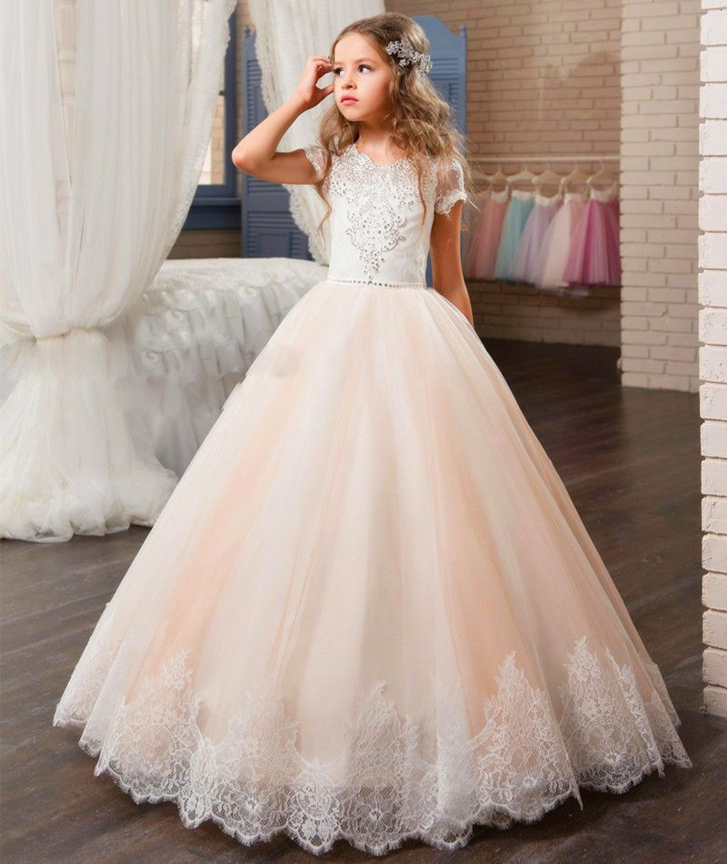Flower Dress Communion Party Prom Princess Pageant Bridesmaid Wedding
