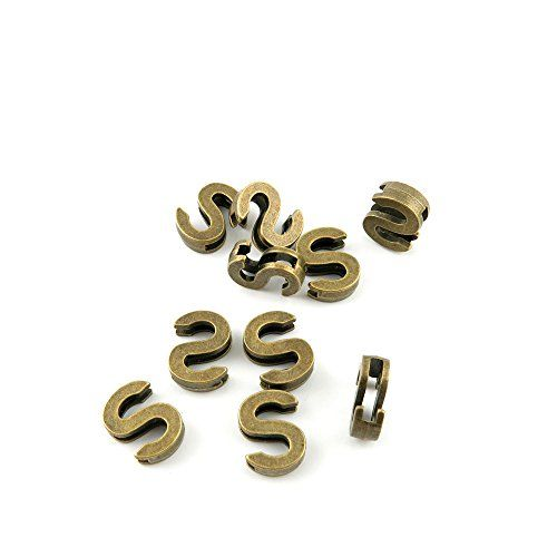 100 Letter Charms Beads Vintage Bronze Alphabet Pendant FOR JEWELRY FINDINGS