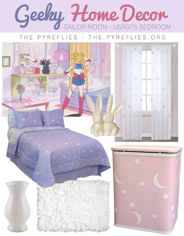 geek home decor sailor moon usagi 39 s bedroom so magical pinterest geek culture truc. Black Bedroom Furniture Sets. Home Design Ideas