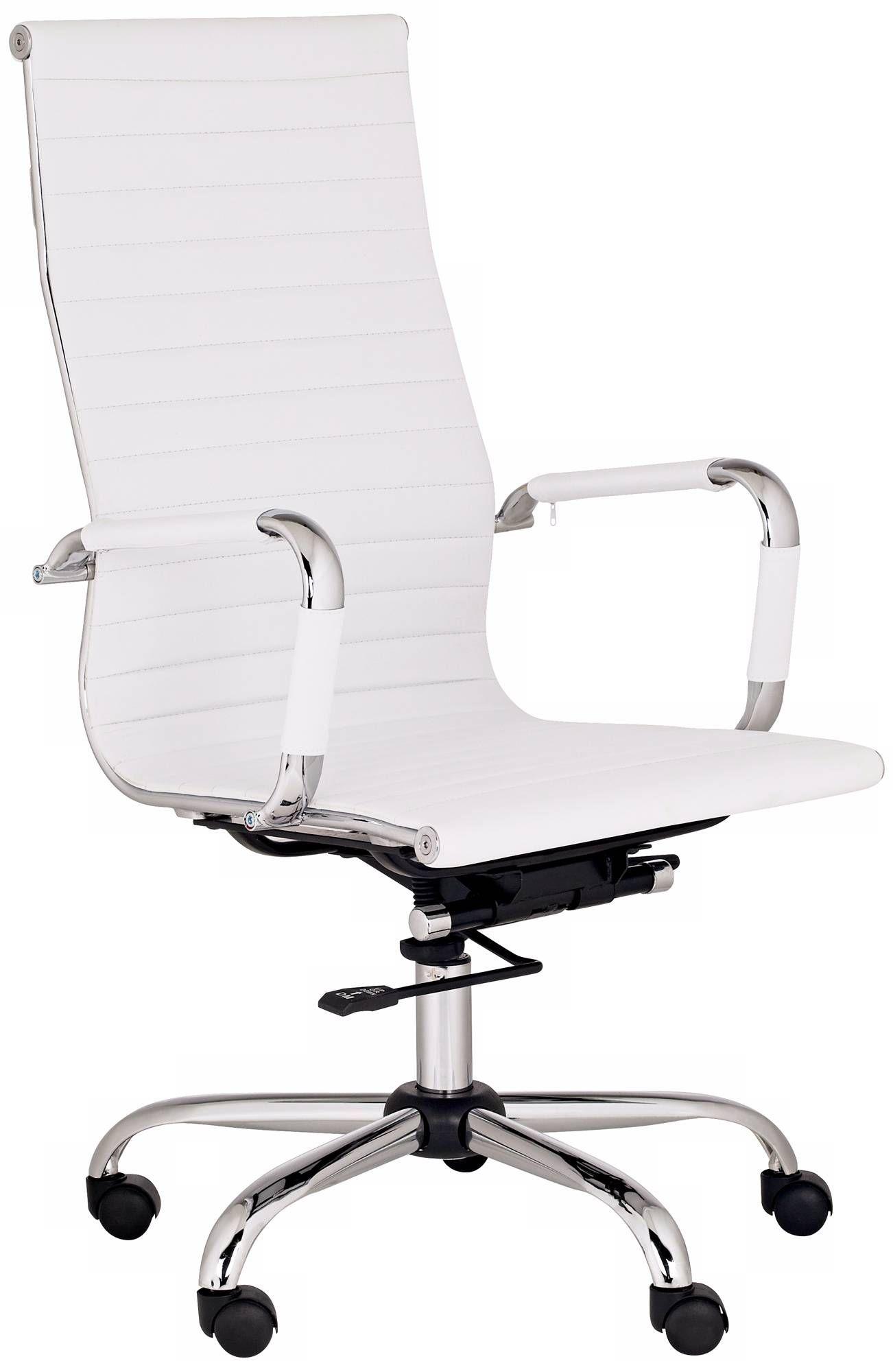 Serge White High Back Swivel Office Chair M5401 Lamps Plus Swivel Office Chair White Leather Office Chair High Back Office Chair