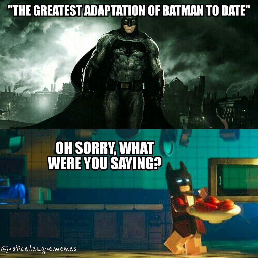 Lego Batman Is The Best Batman Green Arrow By Justice League Memes Batman Funny Batman Meme League Memes