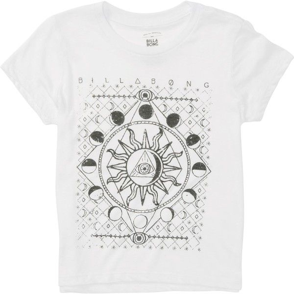 Billabong Unisex Moonlight Gypsy Girls Boyfriend Tee ($9.57) ❤ liked on Polyvore featuring tops, t-shirts, shirts, white, t-shirt/prints, unisex t shirts, boyfriend shirt, tee-shirt, white graphic tee and white boyfriend shirt