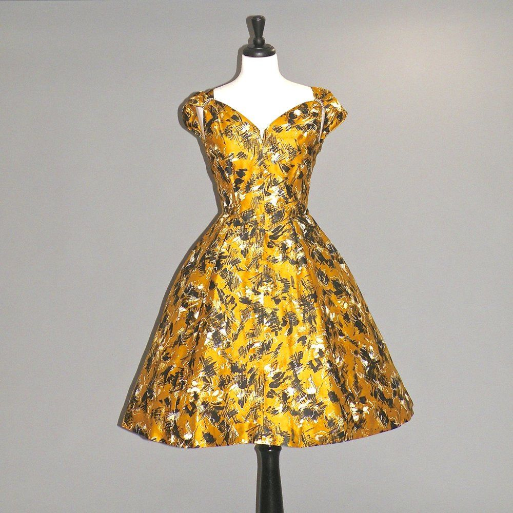 50s Dress 1950s Silk Atomic Print Dress Rene Original Rockabilly Party Dress Dresses Print Dress 50s Dresses [ 1000 x 1000 Pixel ]