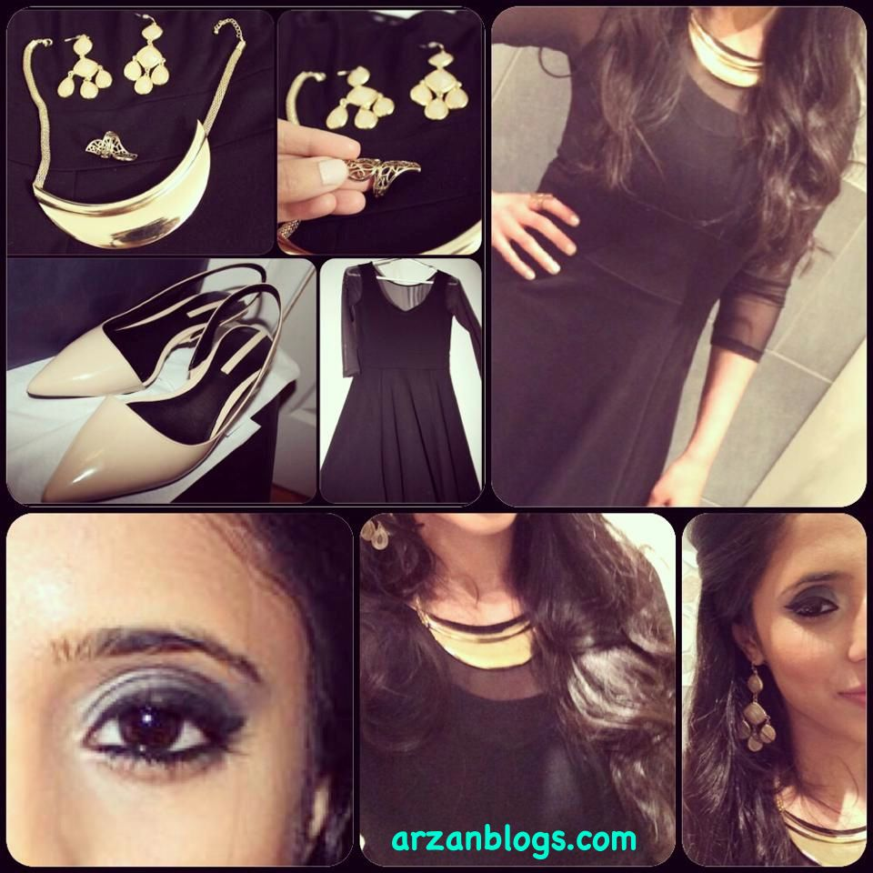 OOTN: Black Dress, Gold jewelry and Nude Shoes  Full details on outfit: http://arzan11fashion.blogspot.ca/2014/03/ootn-dinner-mickey-singh-live.html  My other blogs: http://arzanblogs.com