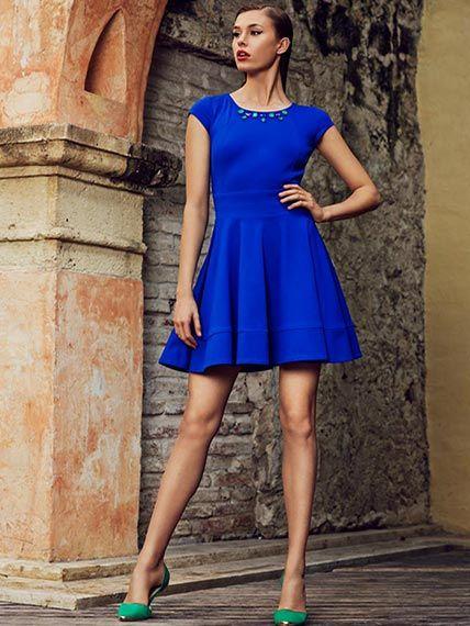 Vestidos de fiesta color azul rey cortos