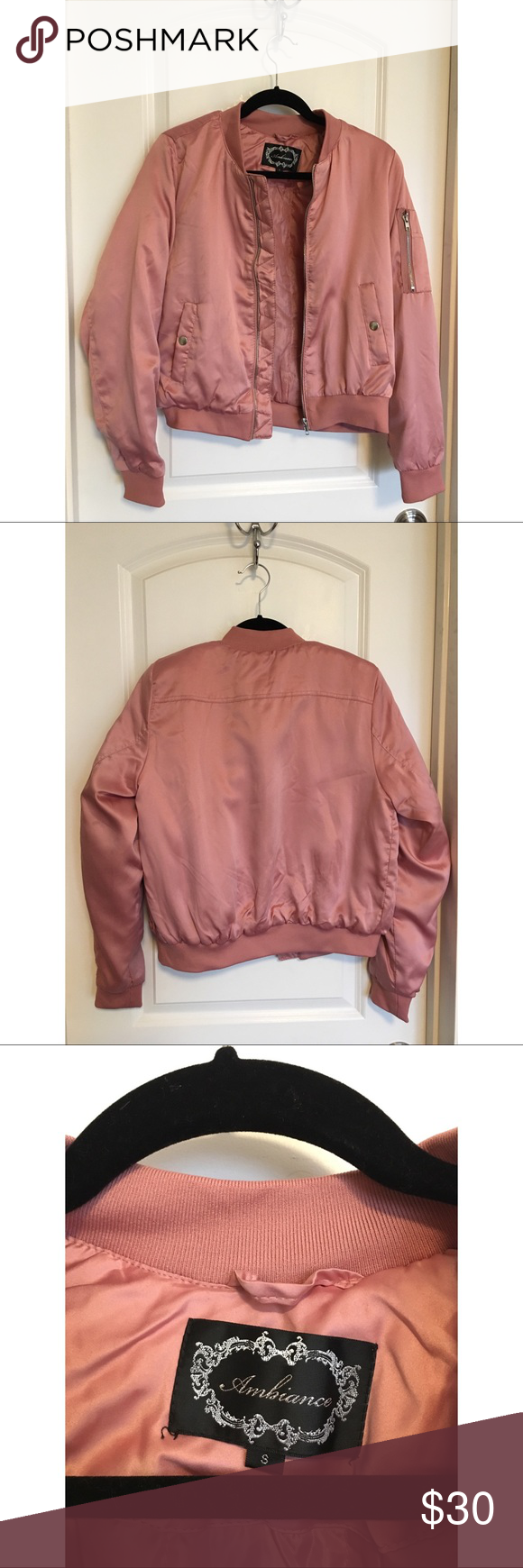 Pretty Pink Bomber Jacket Bomber Jacket In A Pretty Soft Pink Color Soft And Pretty Warm Barely Worn Ambiance Jacke Pink Bomber Jacket Bomber Jacket Jackets [ 1740 x 580 Pixel ]