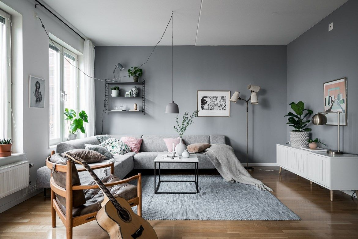 Grey living room with a hint of