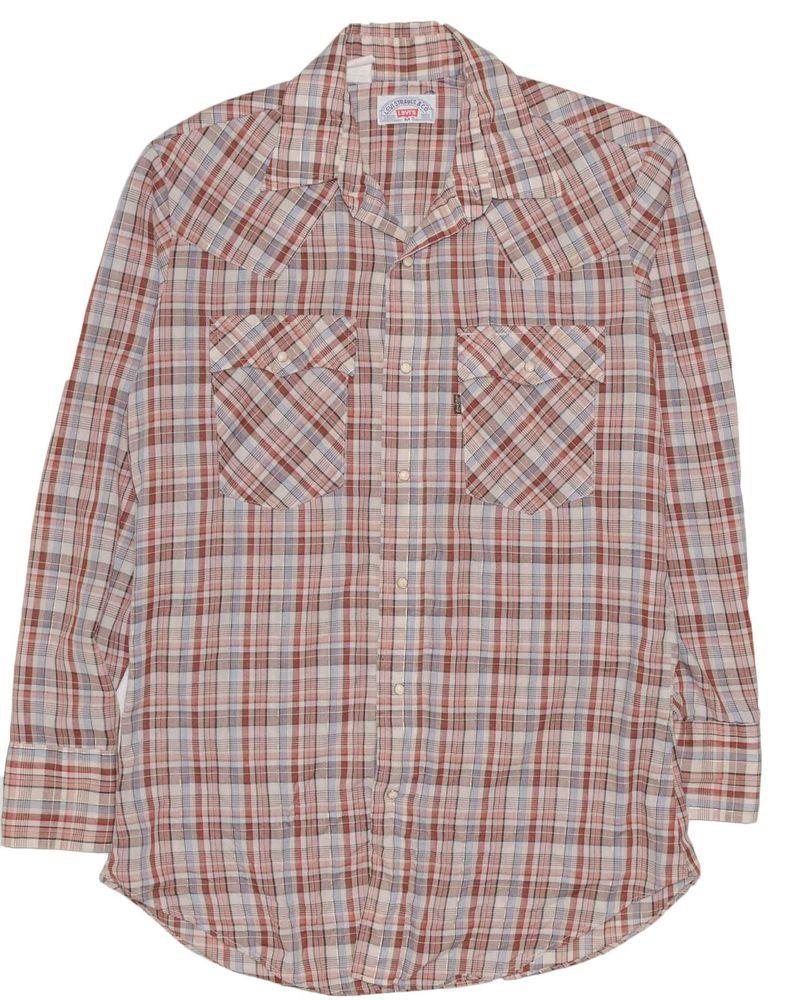 efe4ab8de95b83 Vintage Levis Men's Shirt Medium Metallic Plaid 1960's Western Pearl Snap  USA | Clothing, Shoes & Accessories, Vintage, Men's Vintage Clothing | eBay!