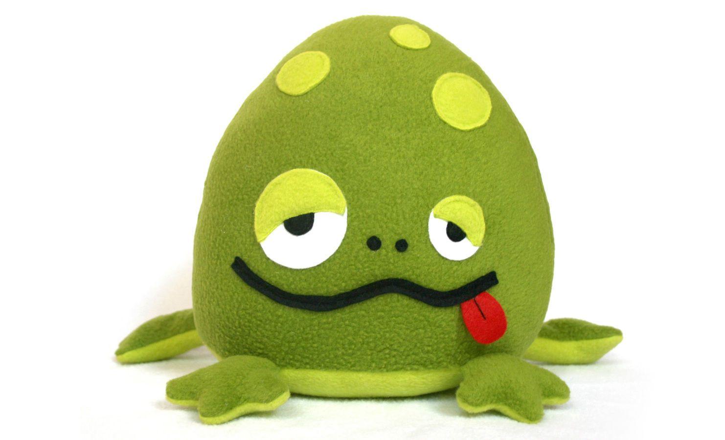 Bubbo der Frosch stofftier Nähanleitung und Schnittmuster | Der ...