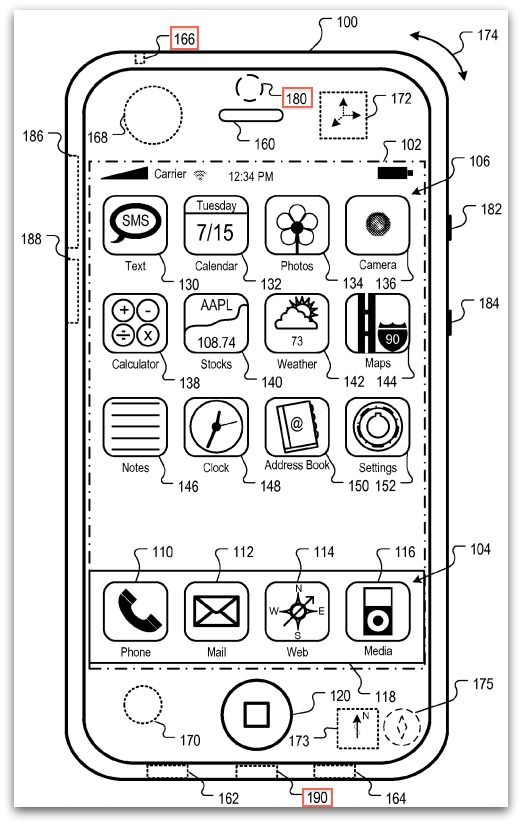 iphone 5 rumor  patent drawings confirm redesign