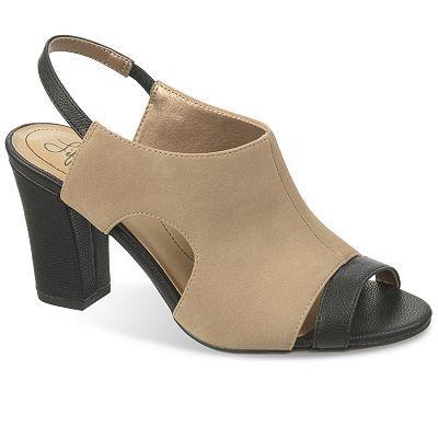 LifeStride Leandra Women's Wide-Width Peep-Toe Dress Sandals