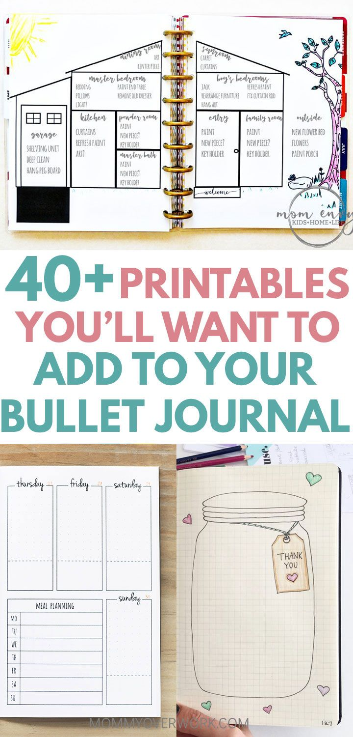 Top  Free Bullet Journal Printables For Serious Bujo Fans