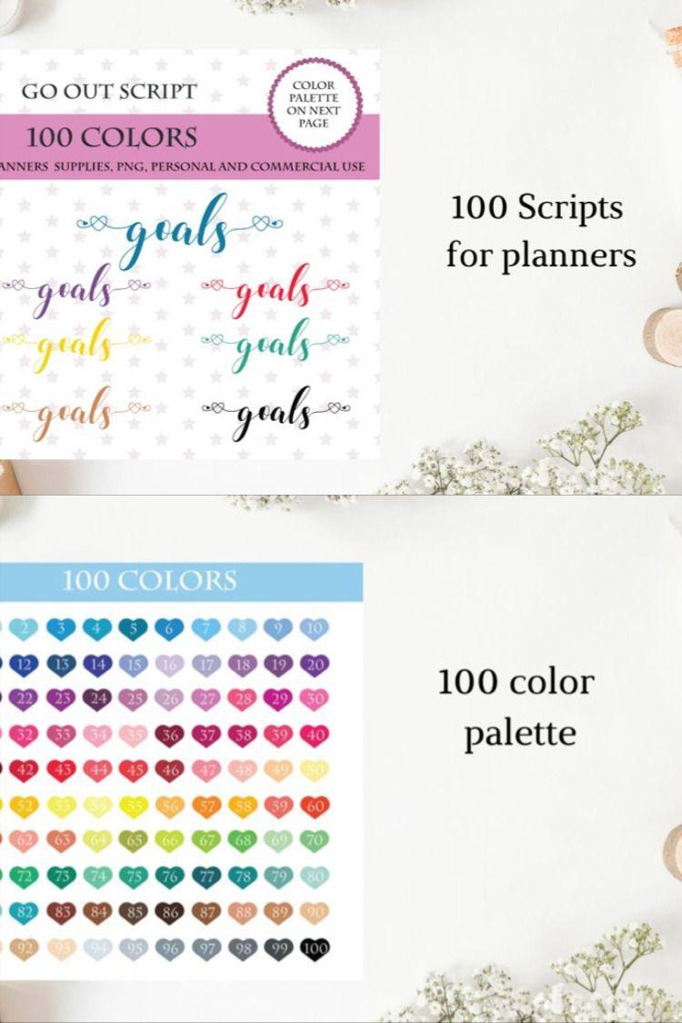 100 gold font digital clipart Gold font sticker clipart GOLD  Scripts Bundle font clipart Planner printable script