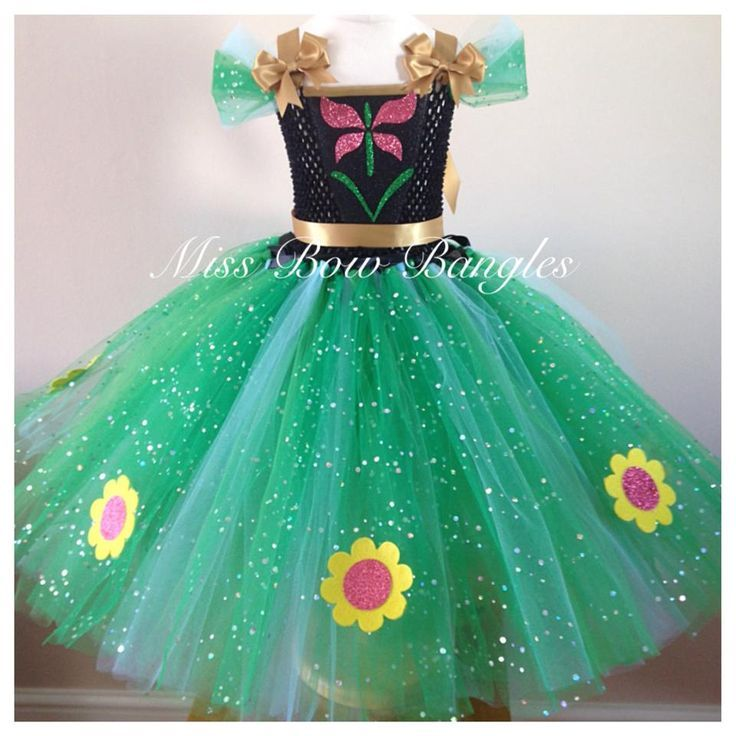 Frozen Fever Party Theme Summer Tutu Dress Birthday Anna Dresses Tutus Adult Costume