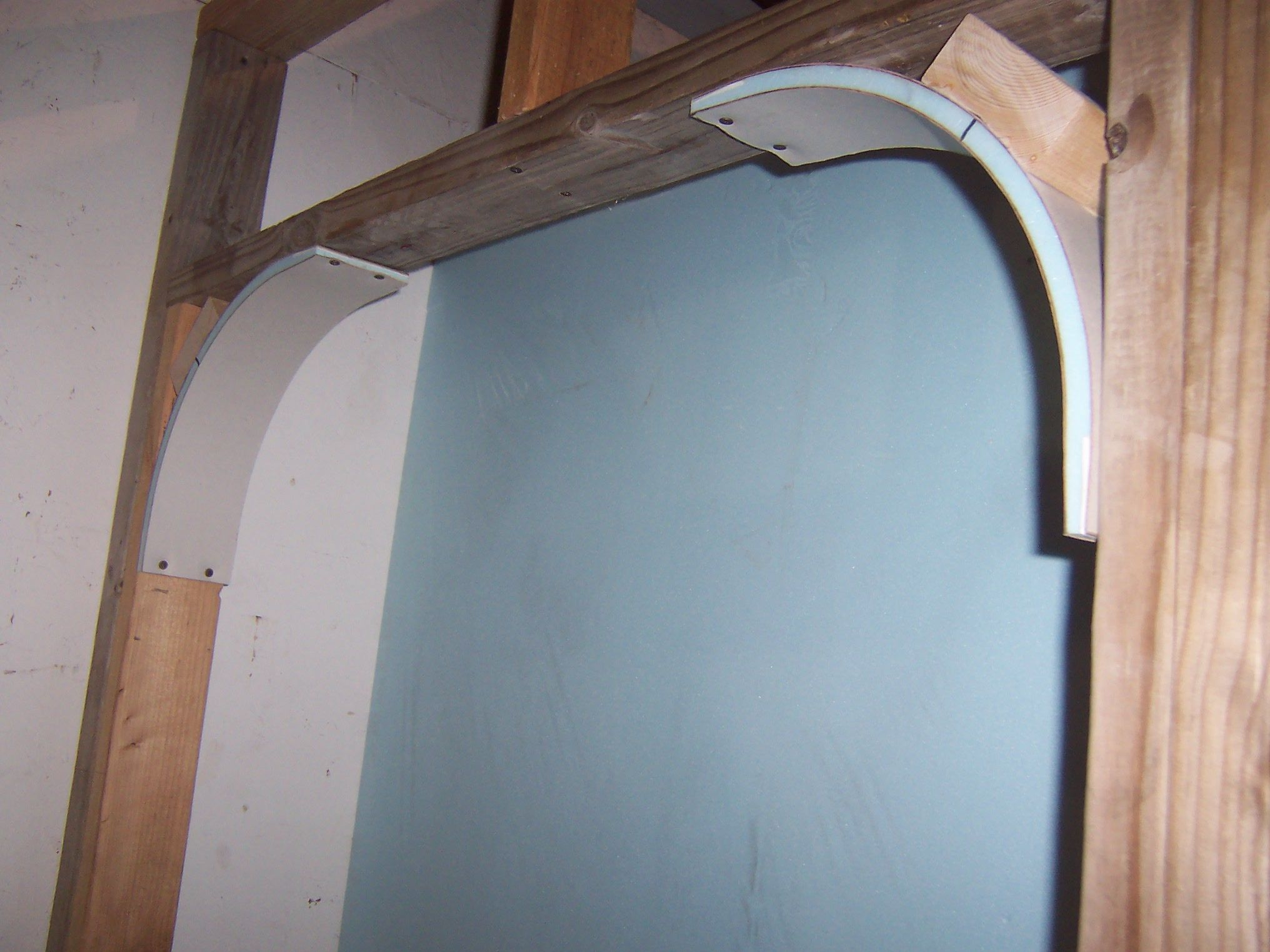 Pre made drywall arches simplest possible way to create - Wallpapering around a curved corner ...
