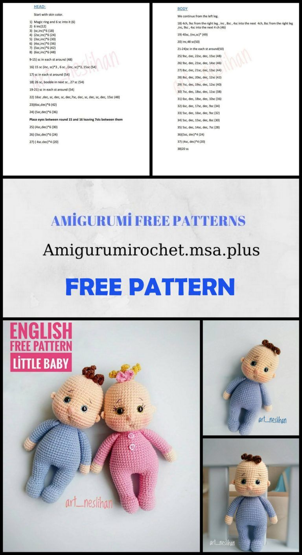 Cute Crochet Patterns Free And Pinterest Favorites | Crochet dolls ... | 1408x768