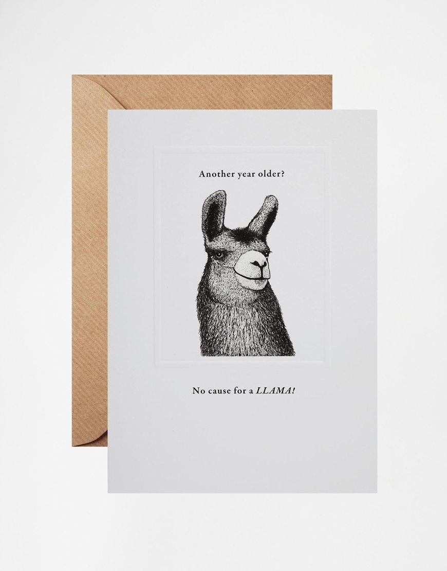 Image 1 of No Cause for A LLAMA Birthday Card i n g e n u i t y