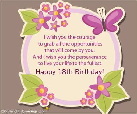 Happy 18th Birthday Birthday Quotes Birthday Wishes Messages