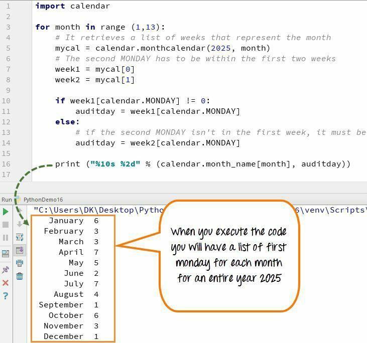 C programs a calendar computational thinking python