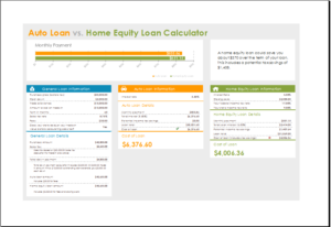 Home Equity Loan Calculator Download At HttpWwwTemplateinnCom