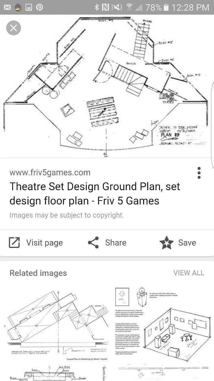 Visual Of A Floor Plan Set Design Theatre Scenic Design Theatre Set