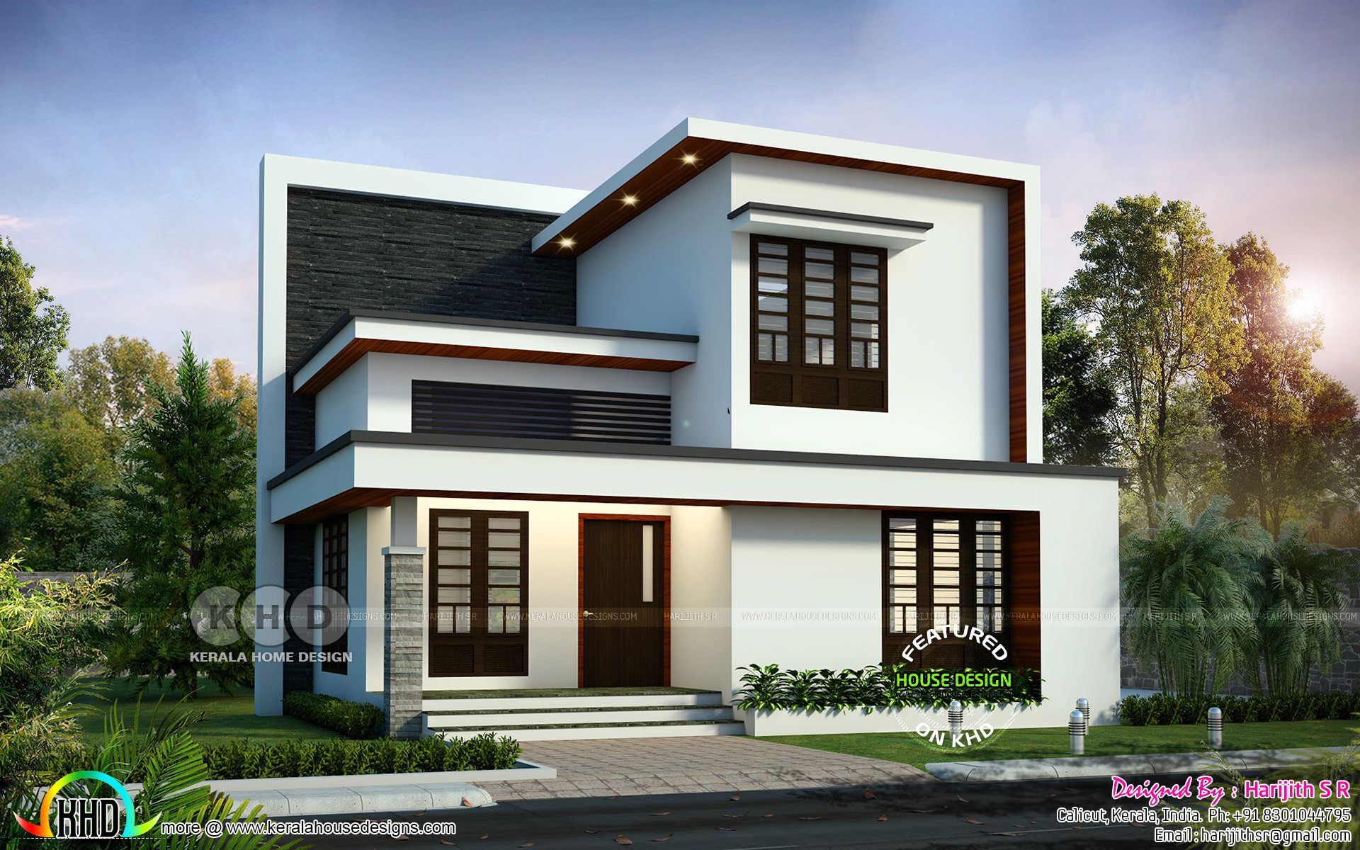 4 Bedroom Modern House Plans With Pictures Home Designs Inspiration In 2020 Small House Elevation Design Duplex House Design Modern House Design
