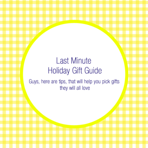 Here is Last Minute Holiday Gift Guide for your dearones! This one is for the Guys :)