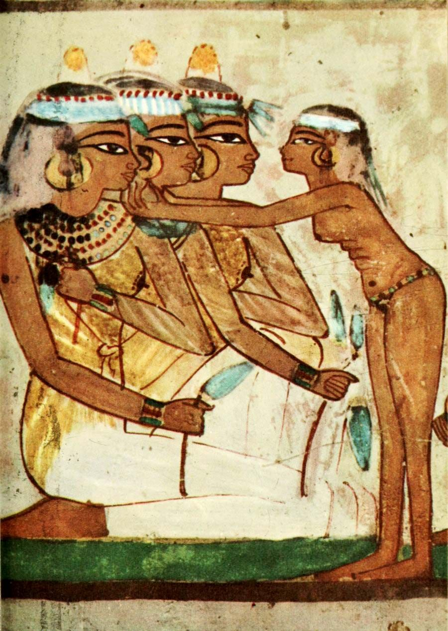 Ancient   Egyptian Wall Paintings 1956, Tomb Of Nakht   Banqueting Scene 2.  #egypt