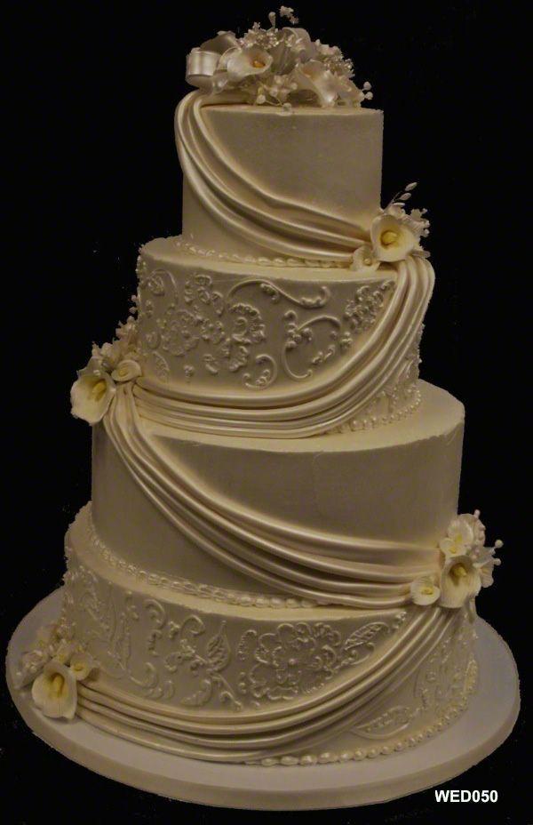 elegant wedding cake design by 3 Brothers Bakery in Houston TX