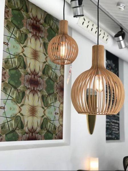 Magnora O35 H45 Trelampe Vakker Og Stor Pendel Lampe I Tre Lamper Interior Inspirasjon