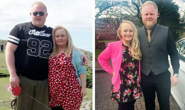 Wedding belles Couple shed a combined 11 stone after size 22 bride