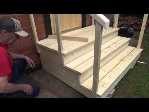 Как построить крыльцо из дерева – красивая и ...