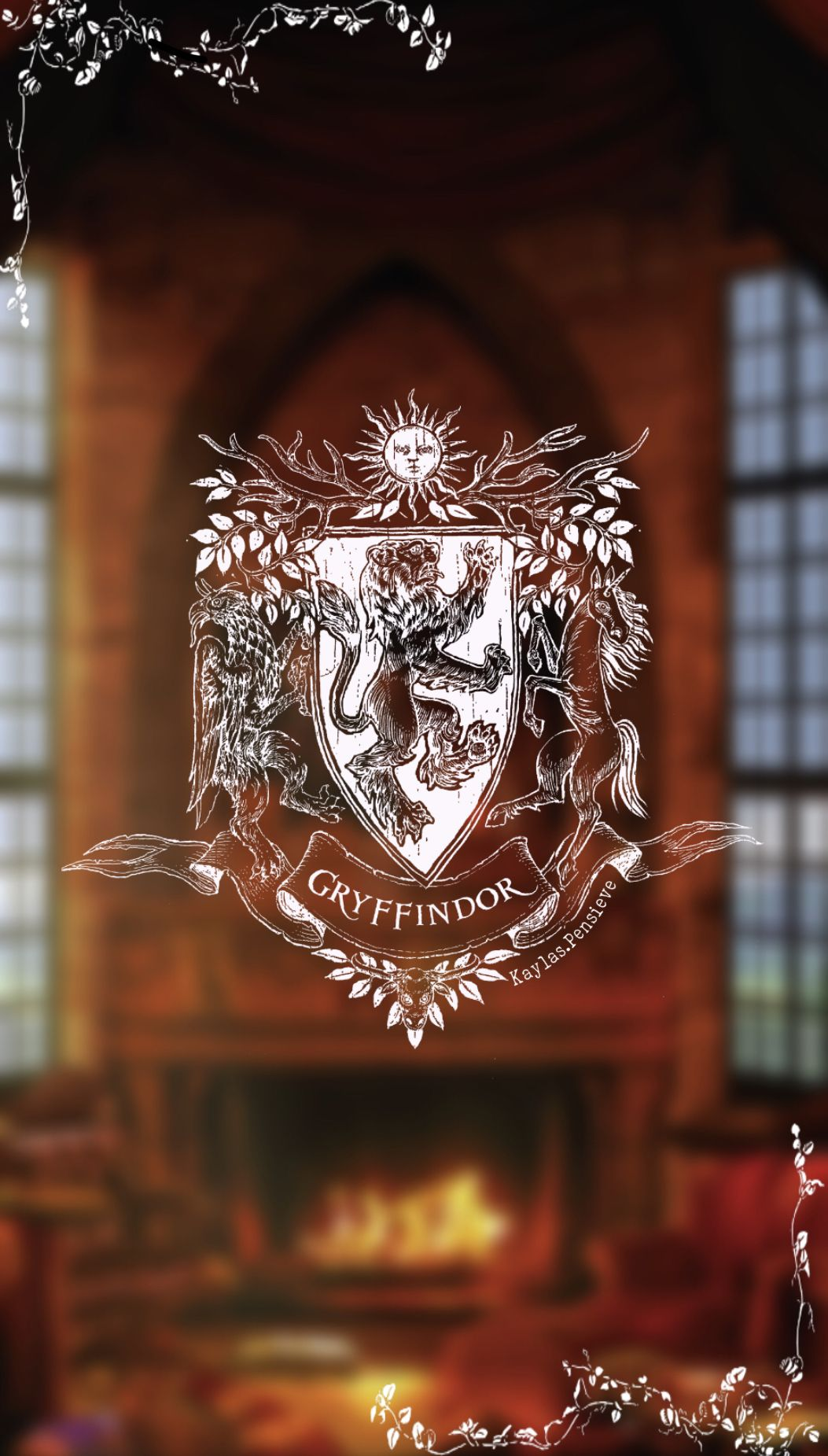 Enjoy this Gryffindor themed background for your mobile