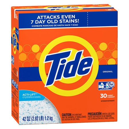 Tide He Laundry Detergent Powder Original Powder Laundry