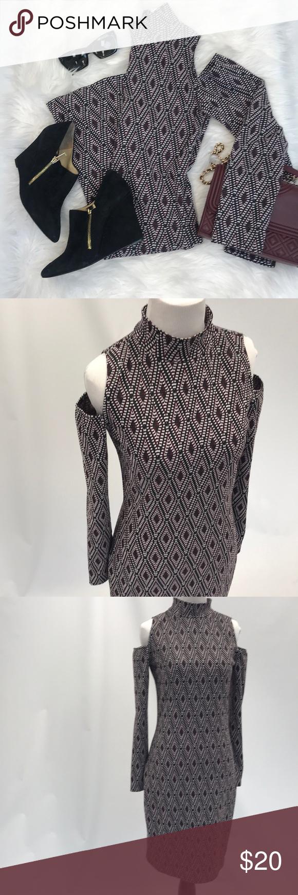 Bar iii pattern long sleeve dress my posh picks pinterest