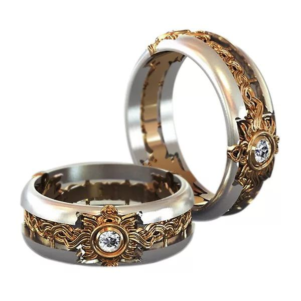 2e373e023762 Необычные кольца (53 фото): дизайнерские женские аксессуары самой красивой  формы Набор Из Обручальных