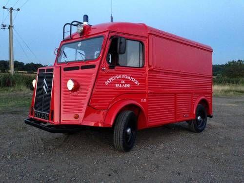 Fully Red Ex Pompiers Hy Van Camper For 1969