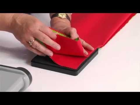 How To Do Christmas Garland With Sizzix Fabi Machine Cutathome Com