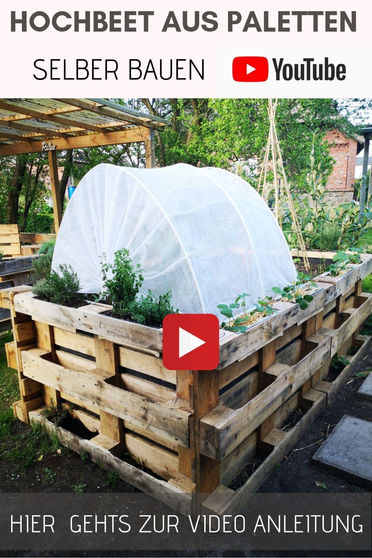 Paletten Hochbeet selber bauen   anlegen   befüllen   bepflanzen ...