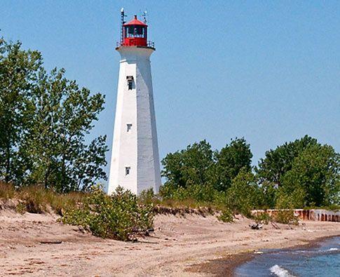 Long Point #Lighthouse - Lake Erie, - Ontario, #Canada - http://dennisharper.lnf.com/
