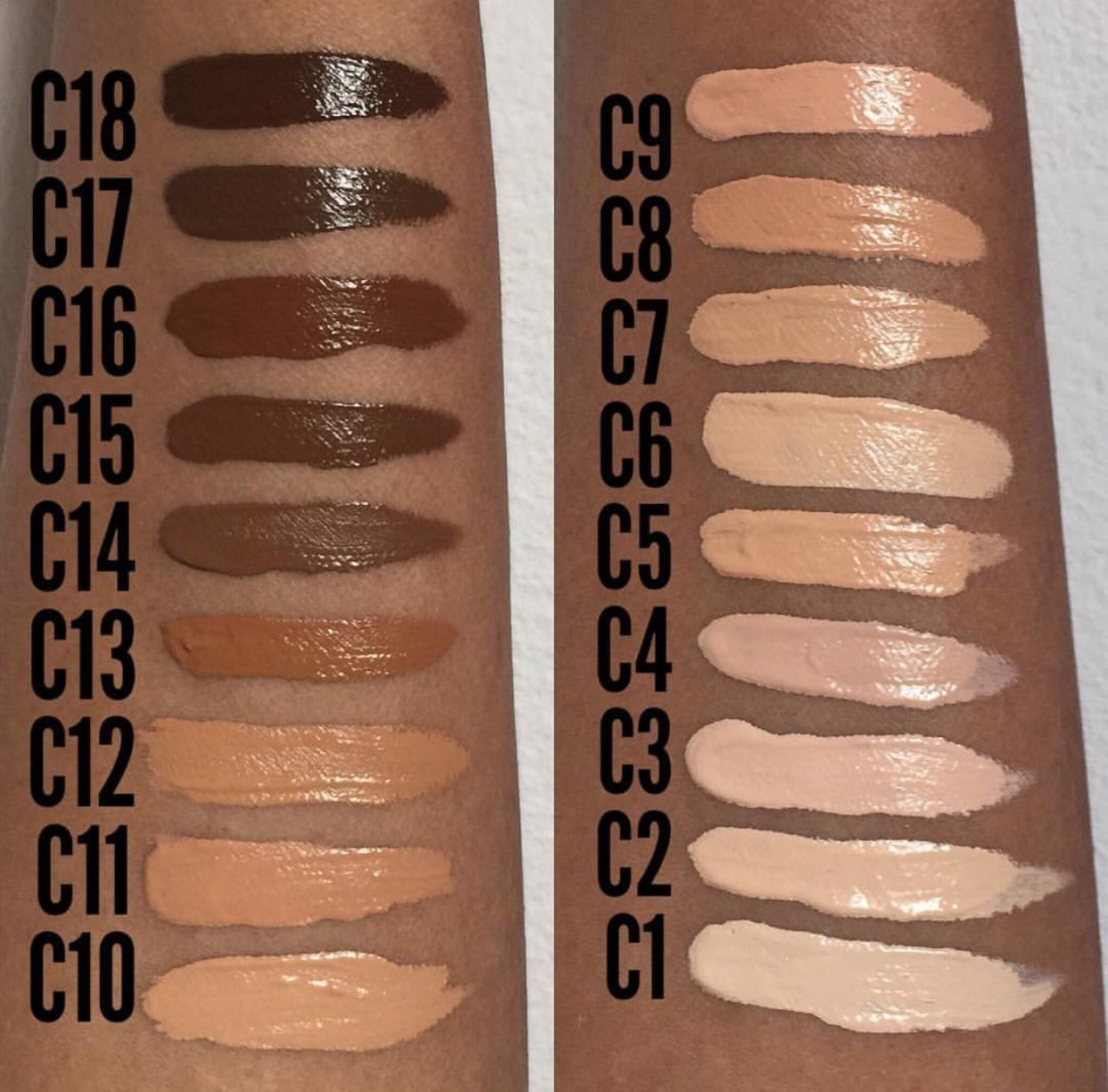 Makeup revolution conceal and define foundation f12
