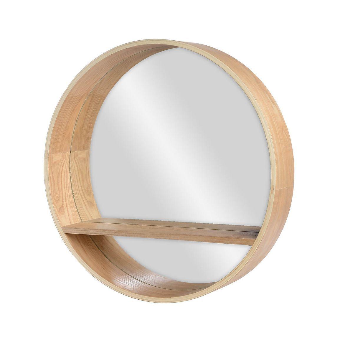 Spiegel Mit Ablage D 50cm Natur Spiegel Mit Ablage Spiegel
