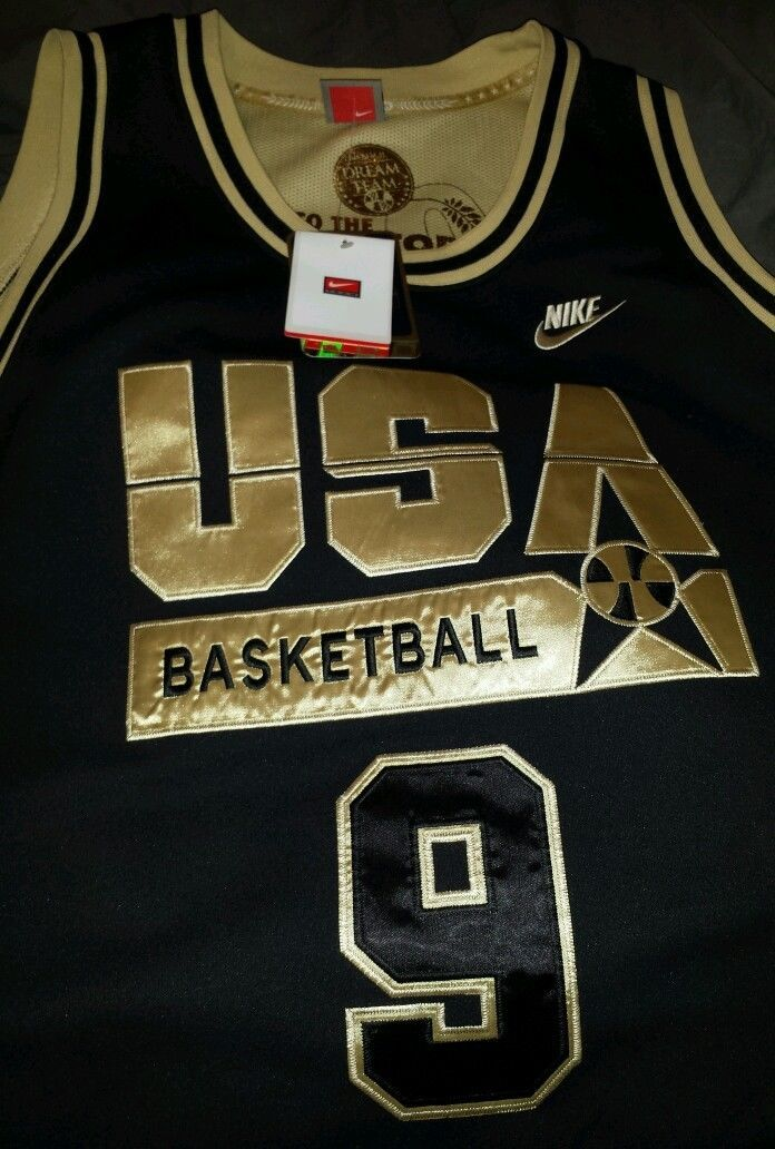 6e31f6f1 MICHAEL JORDAN NIKE USA OLYMPIC GOLD DREAM TEAM JERSEY SIZE X-LARGE XL WITH  TAGS