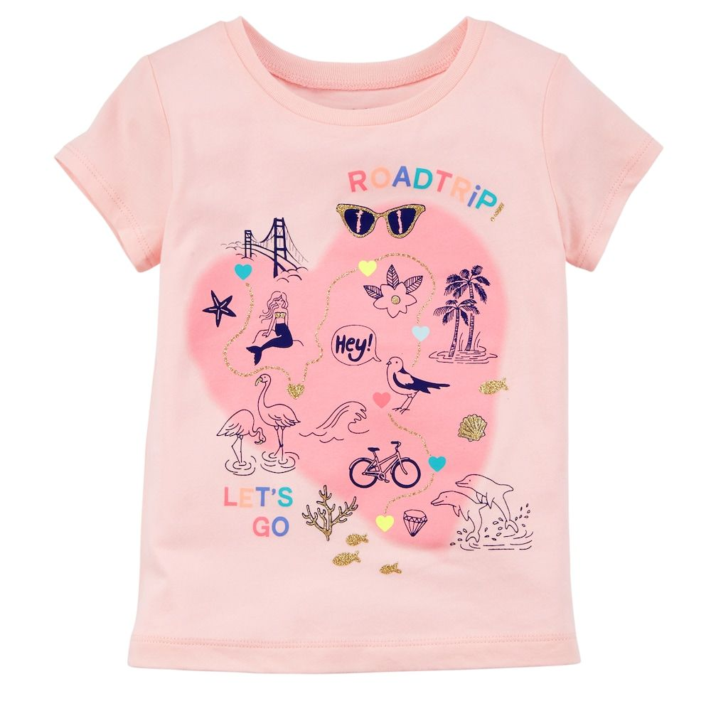 63f77669 Girls 4-8 Carter's Fun Glitter Graphic Tee | Products | Kids outfits ...