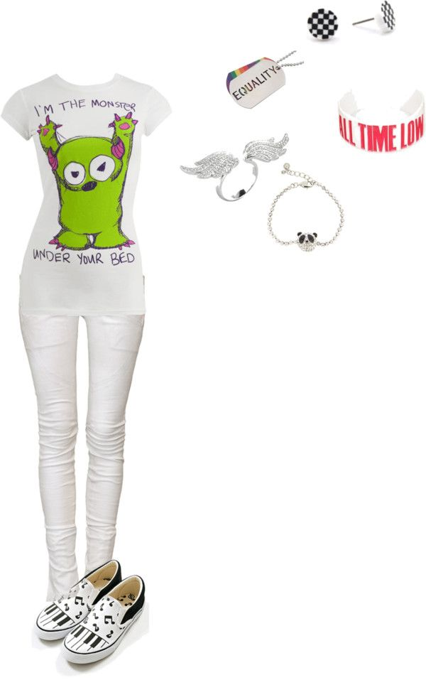 """monsters under your bed xD"" by foreverbroken ❤ liked on Polyvore"