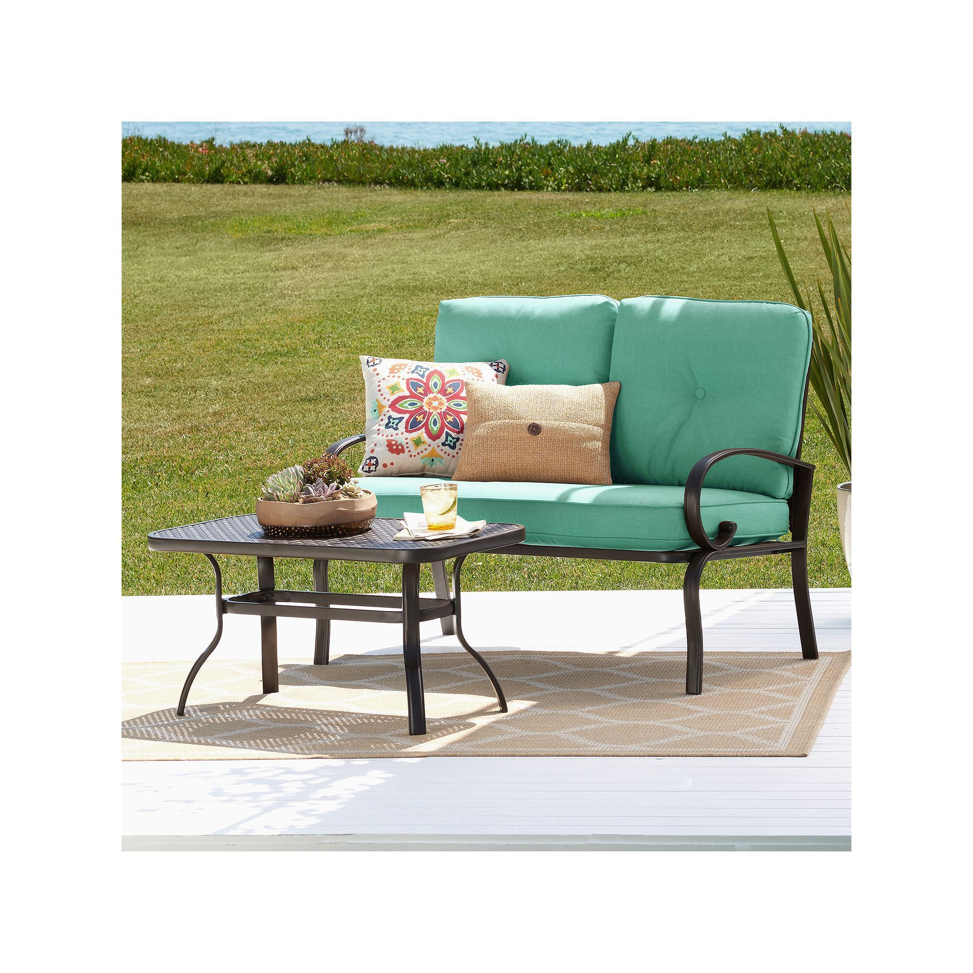 Outdoor Sonoma Goods For Life Claremont Patio Loveseat & Coffee