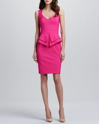 Valentina Peplum Dress, Strawberry by Black Halo at Neiman Marcus.